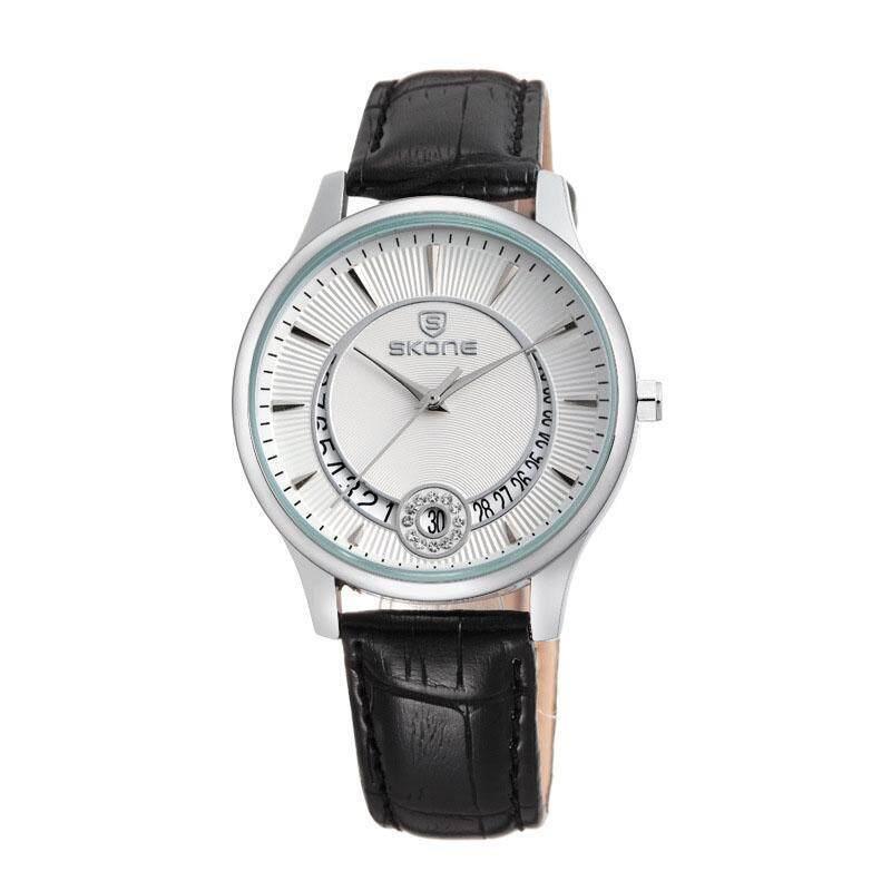Womdee Watch time series of fashion belt diamond calendar watch cheap spot wholesale 9242 (BlackSilver) Malaysia
