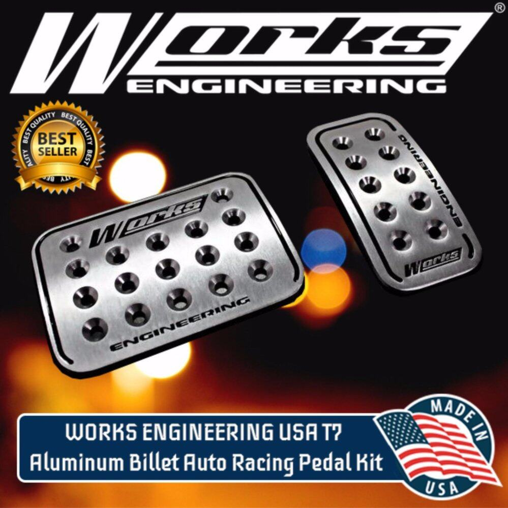 WORKS ENGINEERING USA T7 Aluminum Billet Auto Racing Pedal Kit Made in USA