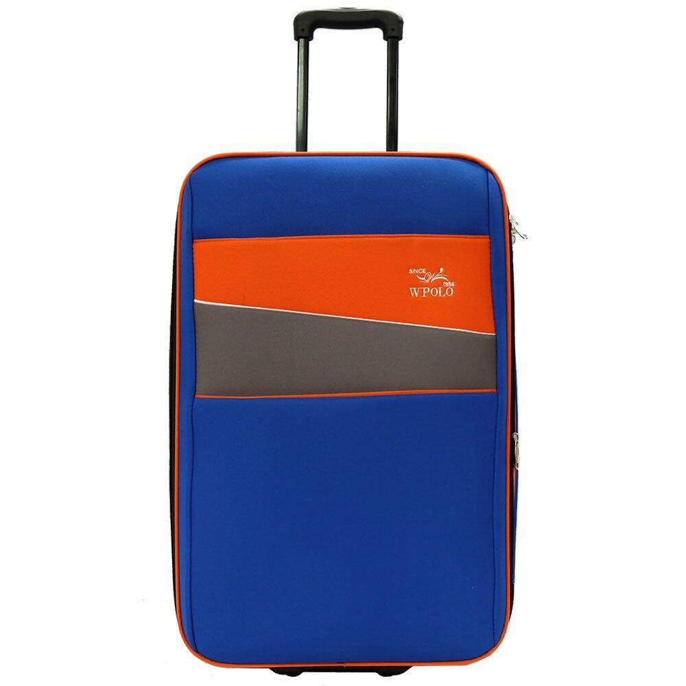 e19baa4692ca W.POLO 24 inch 2 Wheels EVA Trolley Case- WE1864 ( Blue Orange)