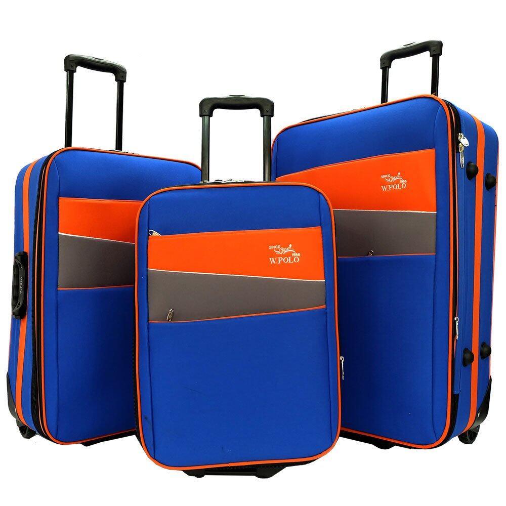 b60e6c3c7509 W.POLO 3-in-1 EVA Trolley Case SET- WE1864 (Blue Orange)