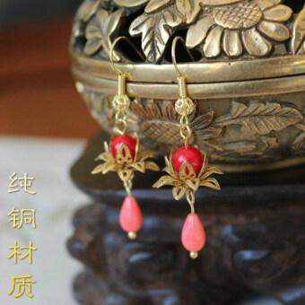 taobao accessories clip earrings handmade beaded popular
