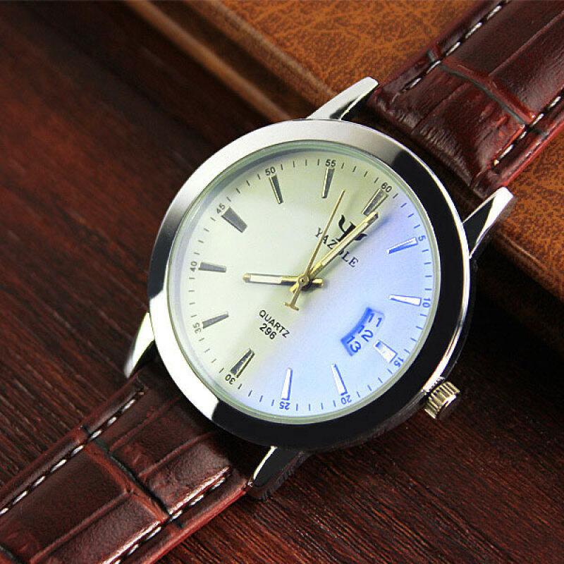 YAZOLE Quality Brand Watch Jam Tangan  Men Watch Jam Tangan es Male Clock Leather Strap Quartz Watch Jam Tangan  Wrist Calendar Date Quartz-Watch Jam Tangan  296 Malaysia