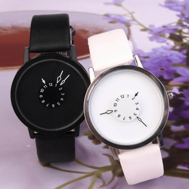 YBC 2Pcs Couple PU Leather Watch Casual Lovers Quartz Wristwatch Malaysia