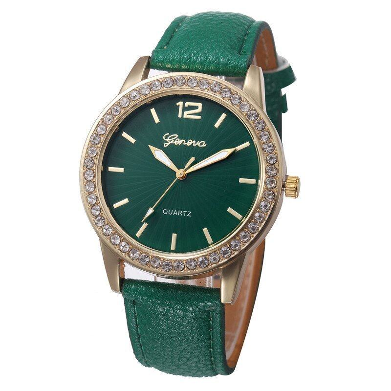 Yika Women Casual Geneva Quartz Analog Watch (Deep Green) Malaysia