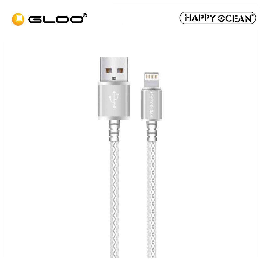 Happy Ocean H01 Lightning Cable (Rose Gold/Silver)