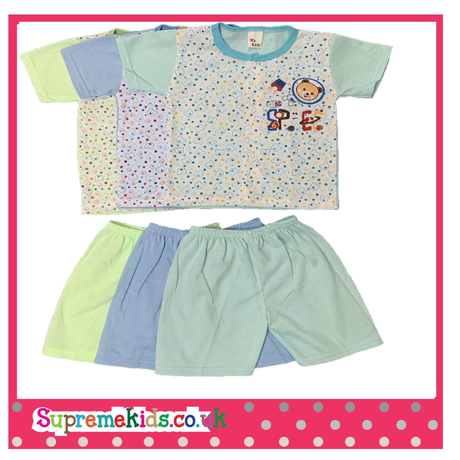 NewBorn & Infants 3 SET Casual wear - 021 (Fit to Age: 6-18Mth Mass:8-12kg Height:69-80CM)