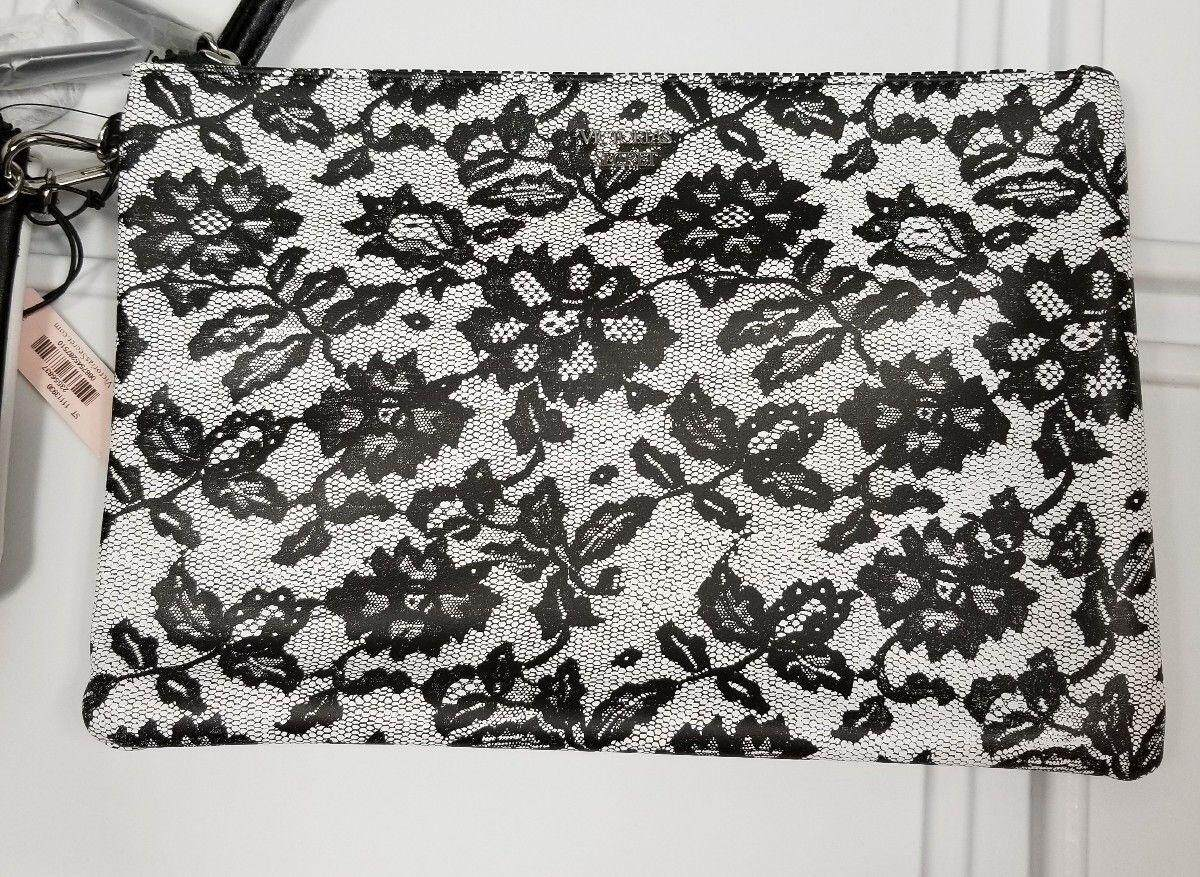 Victorias Secret Wicked Backstage Cosmetic Pouches /Wristlet (white/black lace)