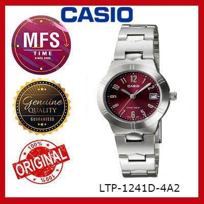 (2 YEARS WARRANTY) CASIO ORIGINAL ENTICER LTP-1241D-4A2 SERIES LADIES WATCH