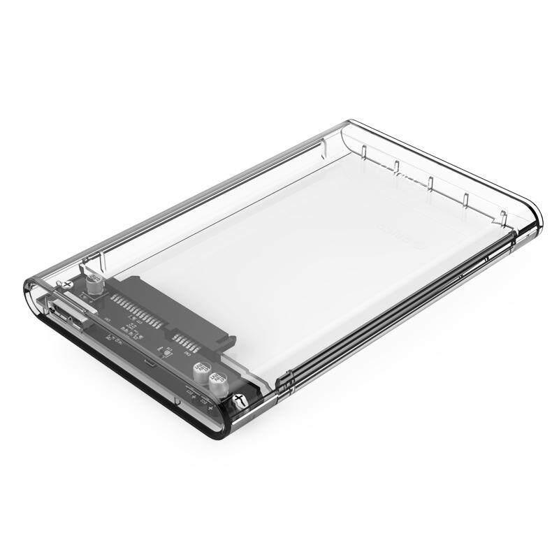 Orico 2139U3 Transparent Clear HDD SSD Enclosure Case 2.5 inch SATA Hard Drive USB 3.0 2139U3-CR Version (Up to 2TB, Size 124.5 x 79 x 13mm)