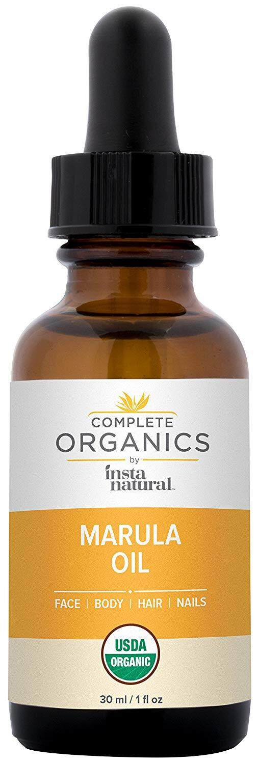 [ iiMONO ] InstaNatural Organic Marula Oil - 100% Pure, Non GMO, Cold Pressed, Unrefined, Moisturizing and Balancing for Hair, Body, Hands or Cuticle & Normal to Oily Skin, 1 oz