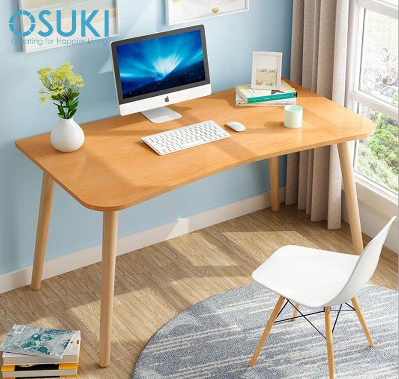 OSUKI Solid Wood 120 x 60cm Home Office Table