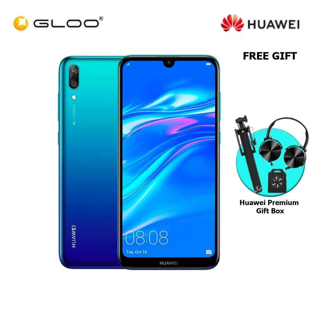 Huawei Y7 Pro 2019 3GB+32GB Blue + FREE Premium Gift Box (Headset/Selfie Stick/iRing)