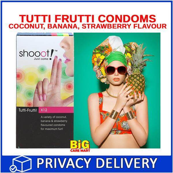 Shooot Tutti Frutti Mixed Fruits Flavored Condoms 12s