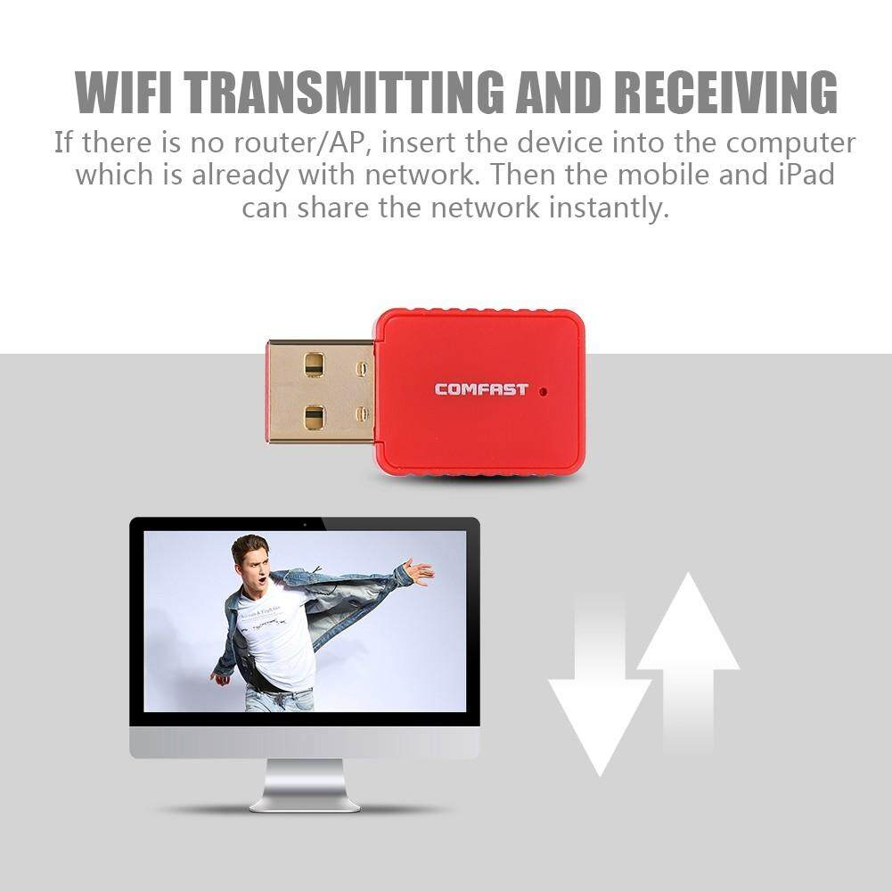 Adapters & Converters - Mini USB Wireless WiFi Adapter AC Dual Band USB  Adapter Network Driver-free 600M