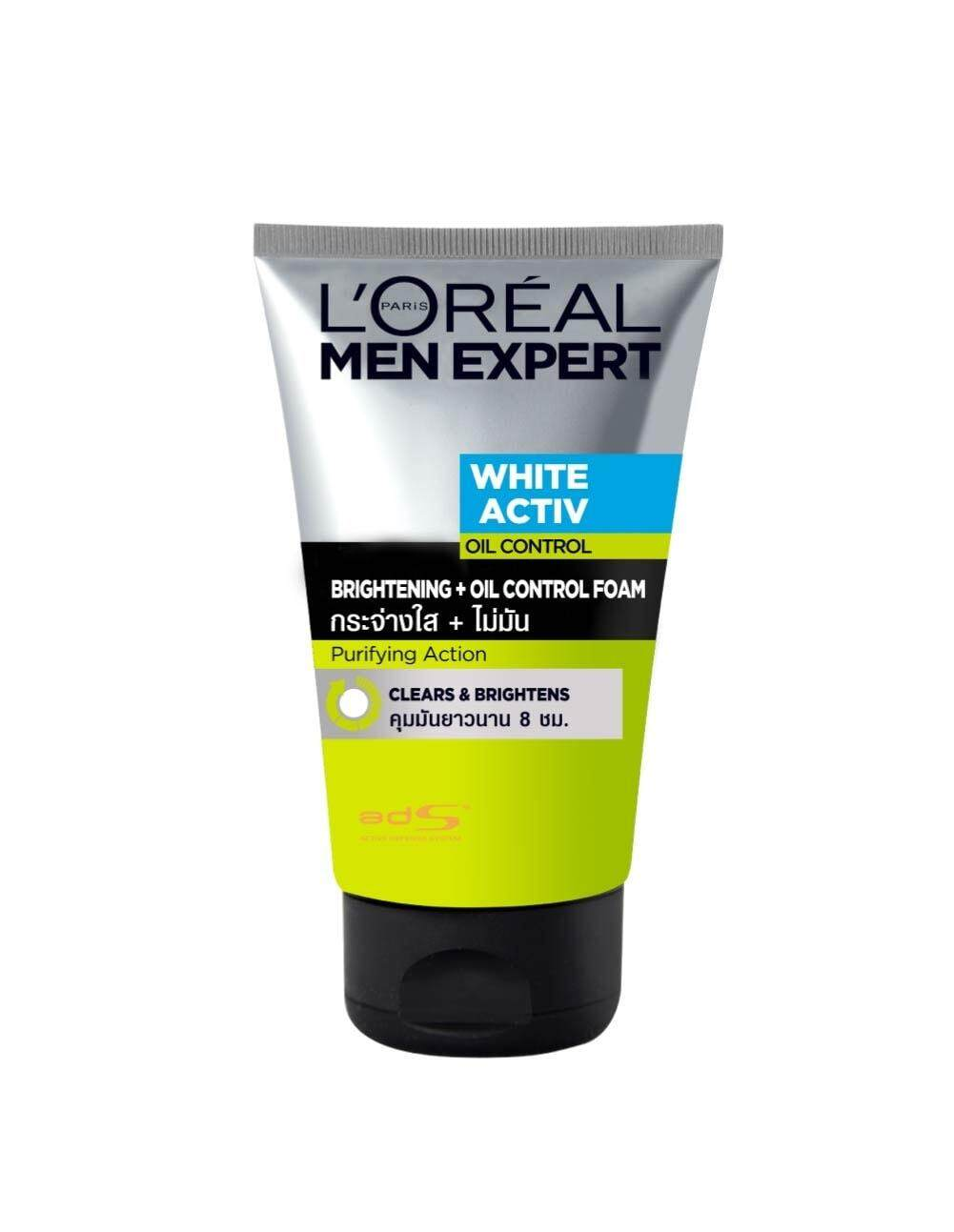 L'Oreal Men Expert White Activ Brightening With Oil Control Foam 100ml