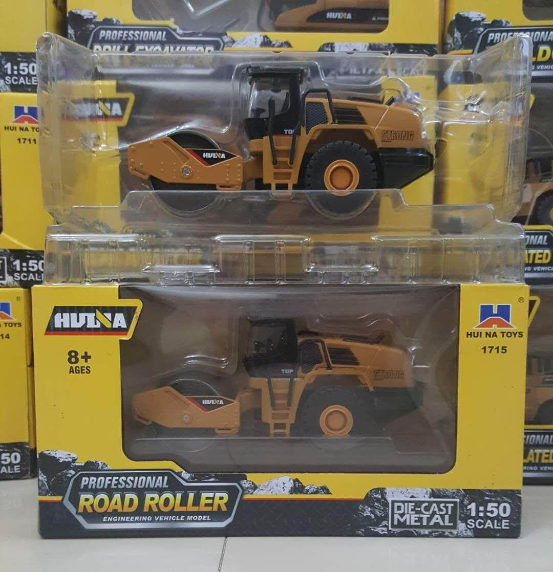 Huina 7715 1:50 Road Roller Truck Toys Alloy Car Engineering Vehicle Model