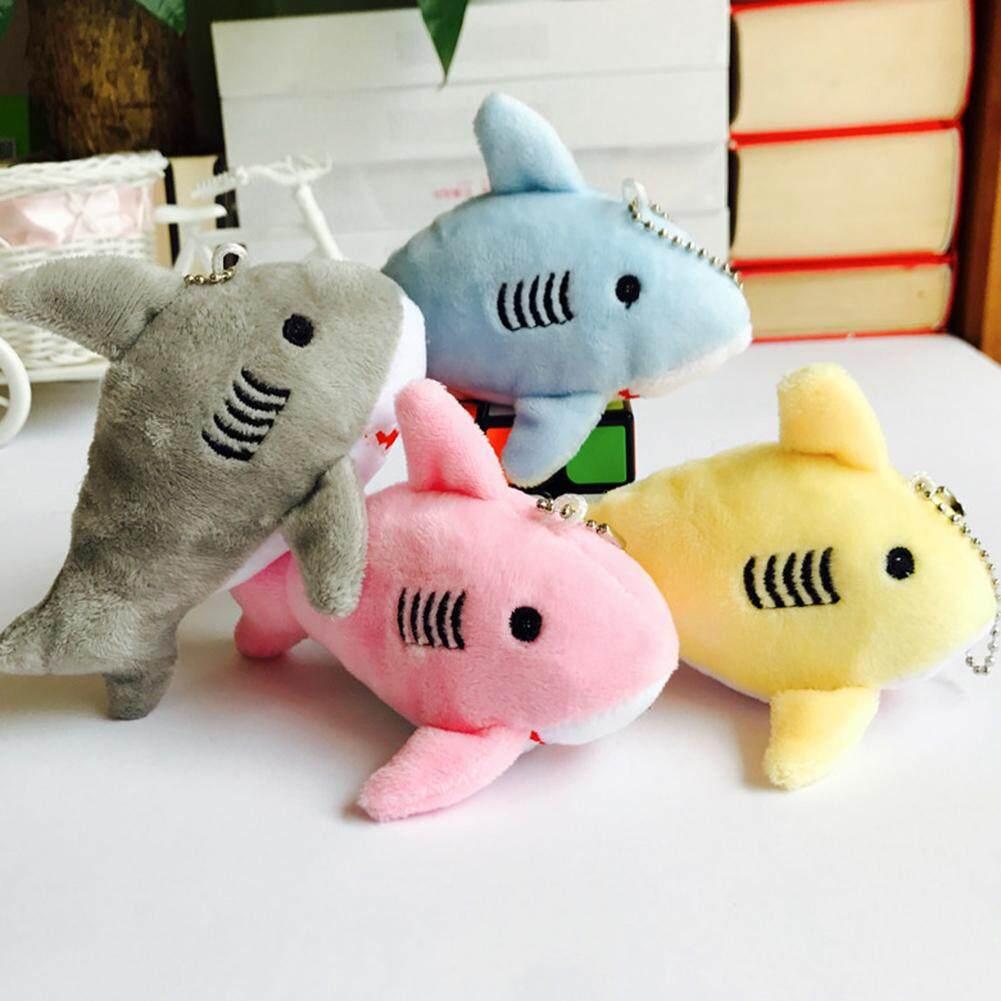 1X 12cm Cute Shark Plush Stuffed Hanging Doll Key Chain Pendant Bag Decor Gifts