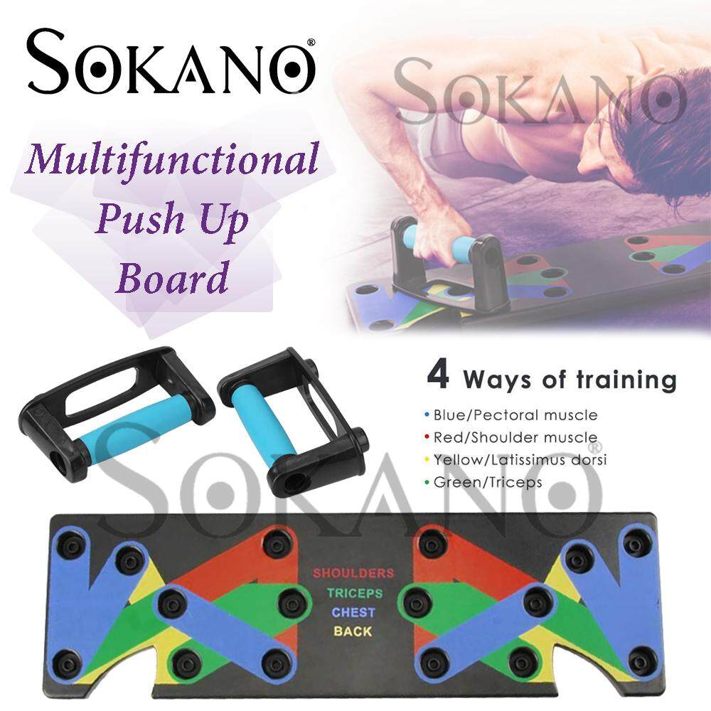 SOKANO Multifunctional Push Up Board Premium Power Press Pushup Push Up Board Gym Fitness Chest shoulder Tricep Bicep Six Pack Muscle Building Workout