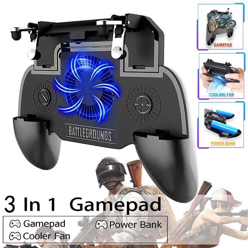 Advanced Controllers - New Mobile Power Game Controller Shooter Trigger PUBG Gamepad with Cooling Fan - [W10 / SR1 - 2000MAH / SR2 - 4000MAH]
