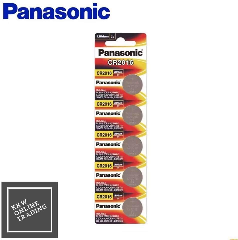 Panasonic Lithium Coin CR2016 5cells Pack Battery (Panasonic Malaysia)