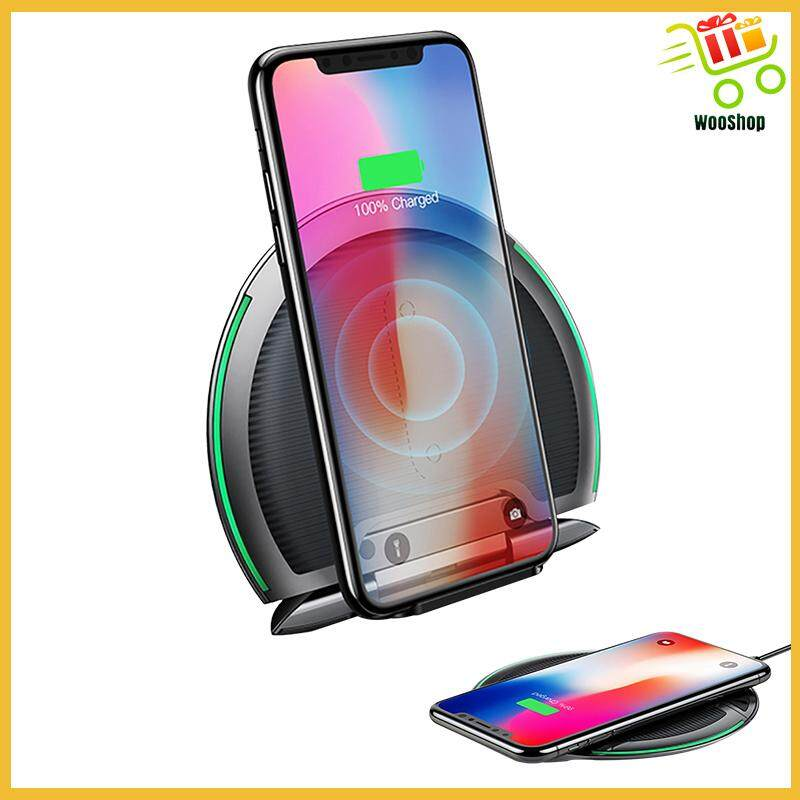 Baseus 10W Collapsible Qi Pad Holder for iPhone 8 S9 S9+ Huawei P20 Pro - GREY / BLACK