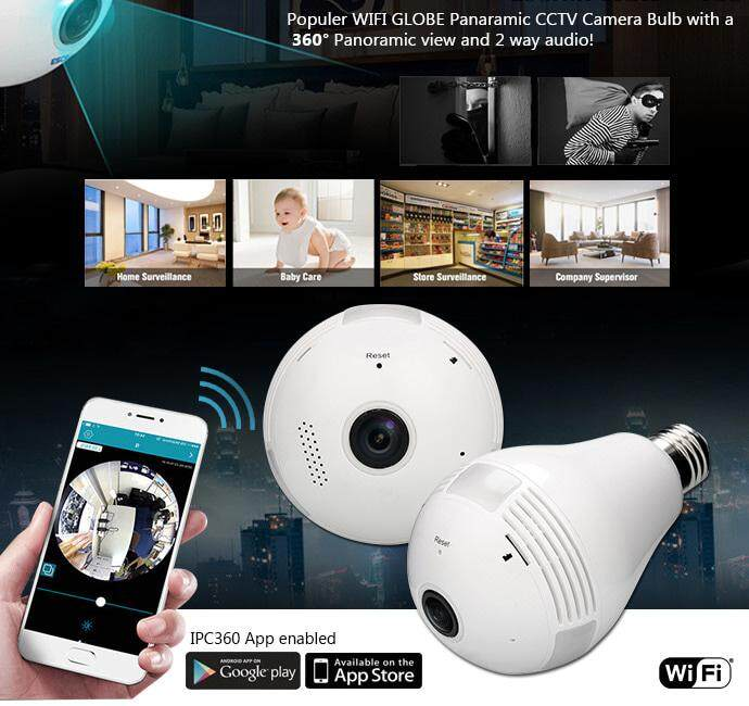 Wireless Panoramic IP VR Camera Bulb Light Wifi FishEye Surveillance 360 degree CCTV Home Security ip camera