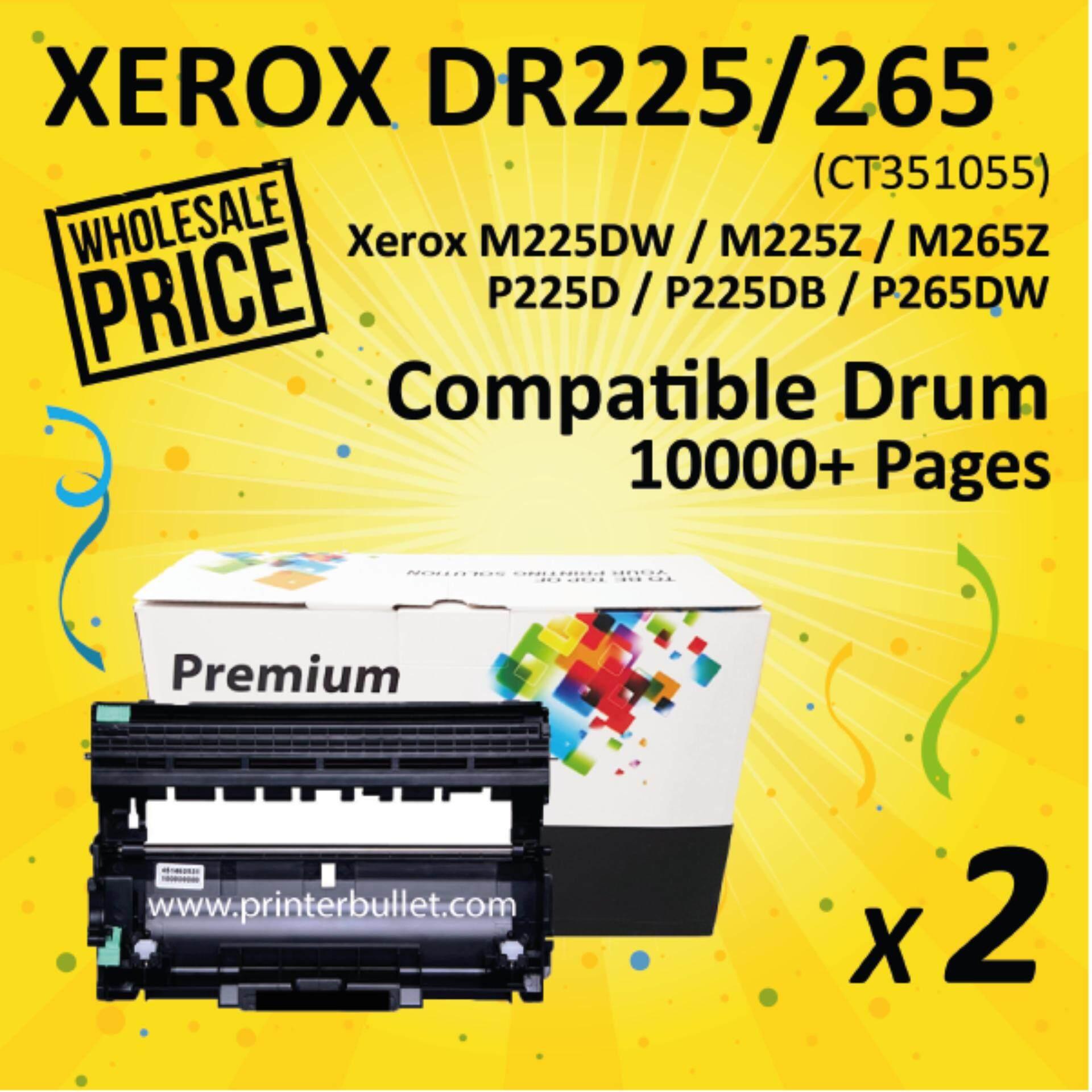 2 unit Fuji Xerox Compatible Drum Unit For Printer P225 / P225d / P225db /  P265dw / M225 / M225dw / M225z / M265z / CT351055 Compatible Imaging (Drum