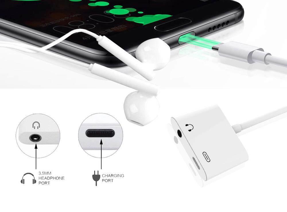 ... 2 In 1 Tipe-C Kepada 3.5 Mm Usb C Headphone Adaptor Audio Jek untuk ...