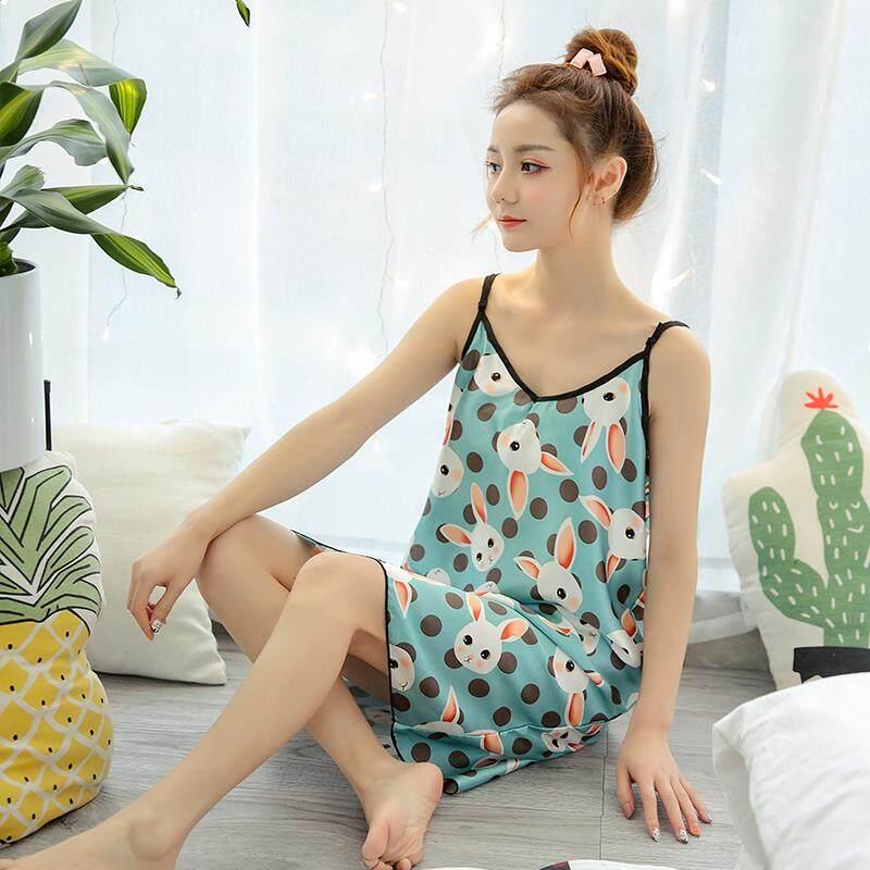 【LIMITED & READY 4 YOU】New Fashion Floral Design Women Sexy Dress Pyjamas Premium Quality (Size: M-XXL)