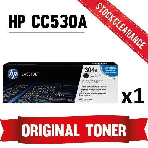 [STOCK CLEARANCE] HP CC530A Black Original Toner (304A) 2014