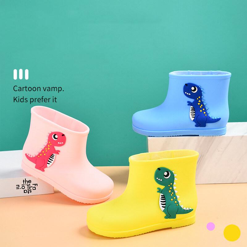 LL รองเท้าบูตลุยฝนสำหรับเด็ก,รองเท้าแฟชั่นสไตล์เกาหลีกันลื่นน้ำหนักเบา
