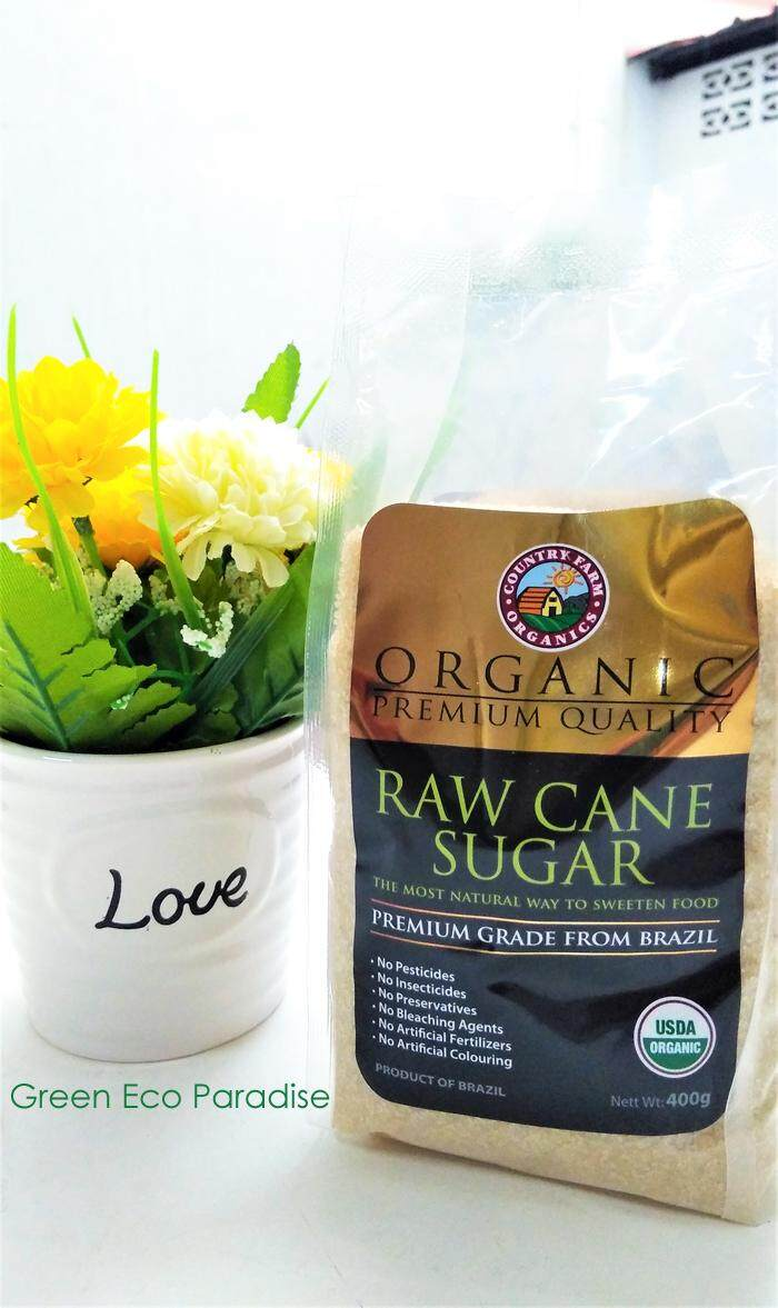 Country Farm Organic Raw Cane Sugar 400g