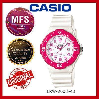 2 YEARS WARRANTY) CASIO ORIGINAL LRW-200H-4B SERIES STUDENT & KID'S WATCH