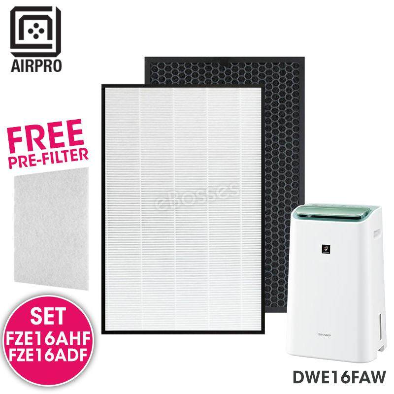 AIRPRO for Sharp FZ-E16AHF FZ-E16ADF Replacement Air Purifier HEPA & Deodorizing Filter for DWE16FAW