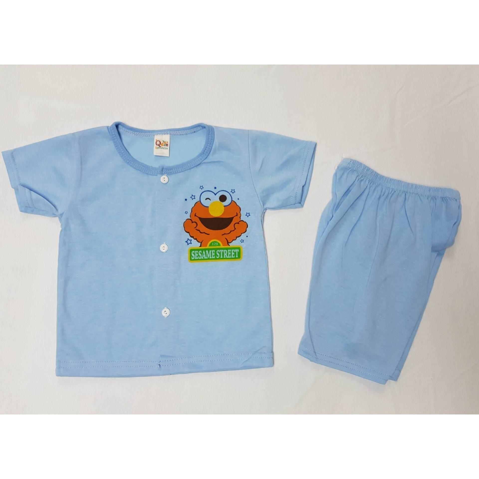 3 Pasang Elmo Sesame Street NewBorn Baby Casual wear