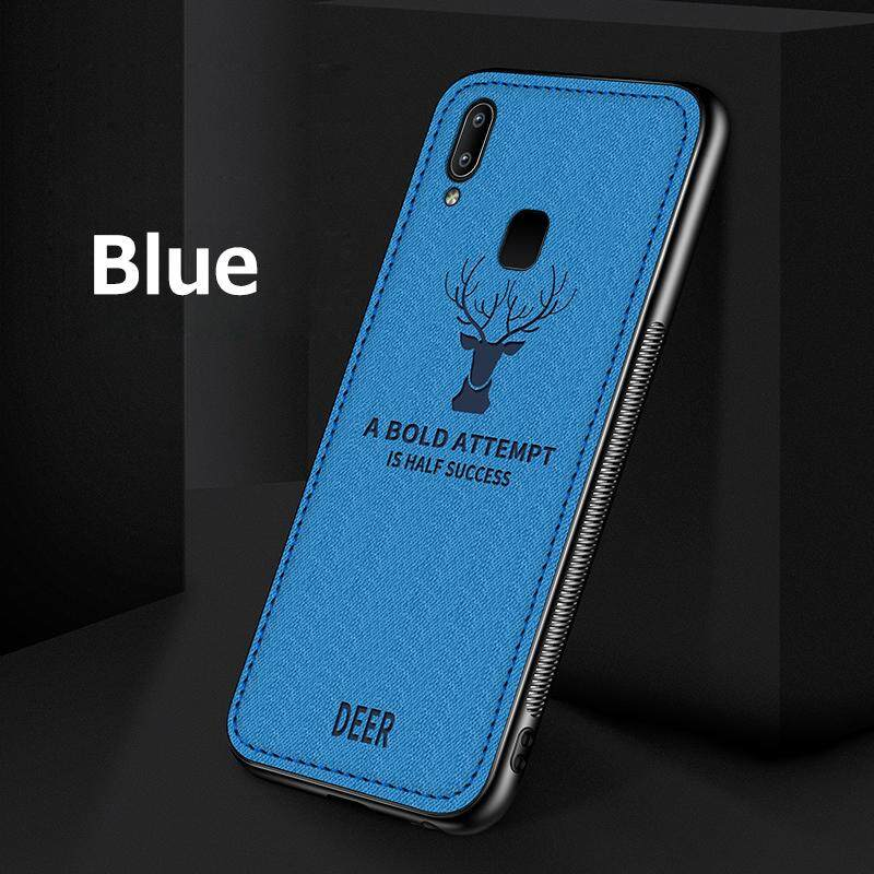 ลดสุดๆ For VIVO Y91/Y91i/Y95 Cloth Pattern Soft TPU Breathable Hand Sweat Prevention Phone Case
