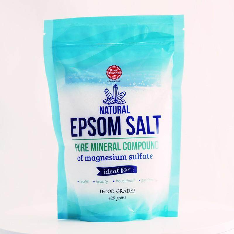 FINE FOOD NATURAL EPSOM SALT 425GM
