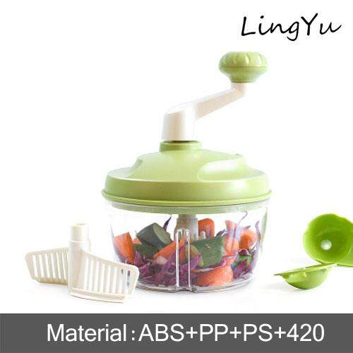 Lingyu ชุดเครื่องครัวมือหมุนเครื่องปั่นอาหาร-เครื่องบดสับอาหารด้วยตนเองเครื่องปั่นผลไม้พกพาแบบชาร์จไฟได้ CUTTER เครื่องบดเนื้อผัก,ผลไม้,สลัดไข่แยก