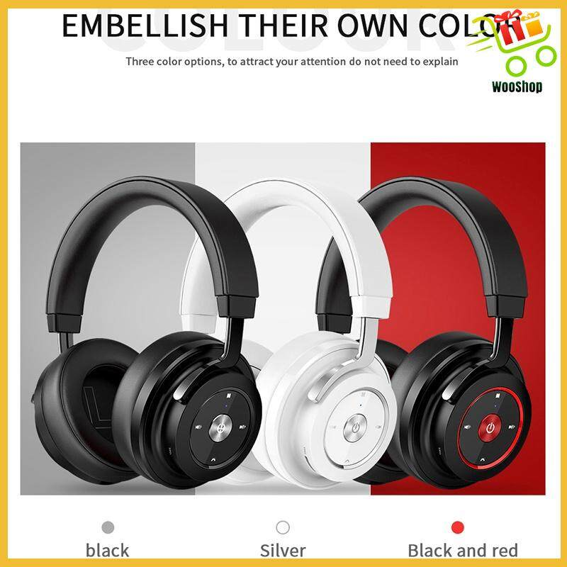 Picun P20 HiFi Super Bass WIRELESS BLUETOOTH Headphone Head SET Noise Cancelling - BLACK RED / WHITE / BLACK