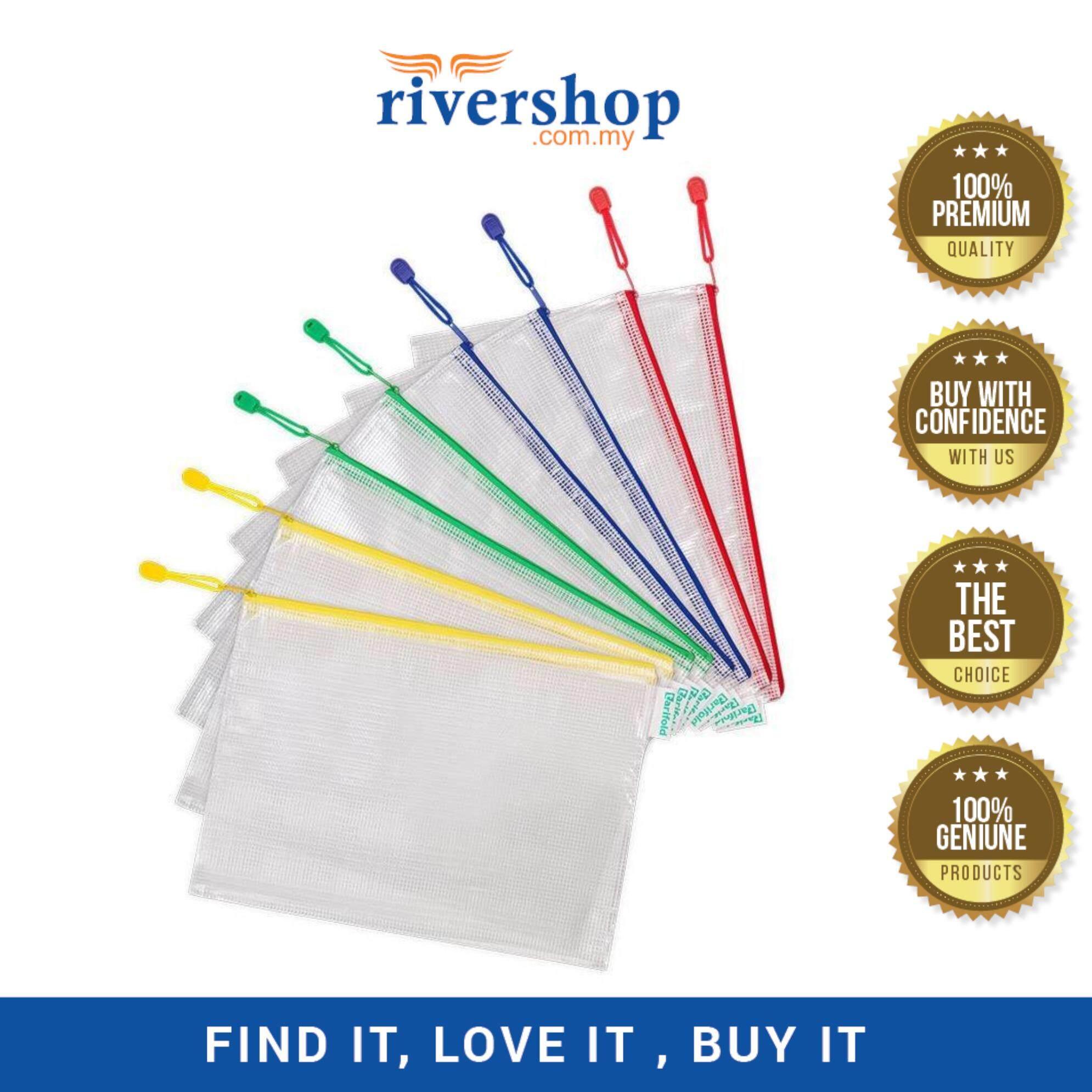 A4 Waterproof Mesh Zipper File Document Bag - 34 x 23.5 x 0cm