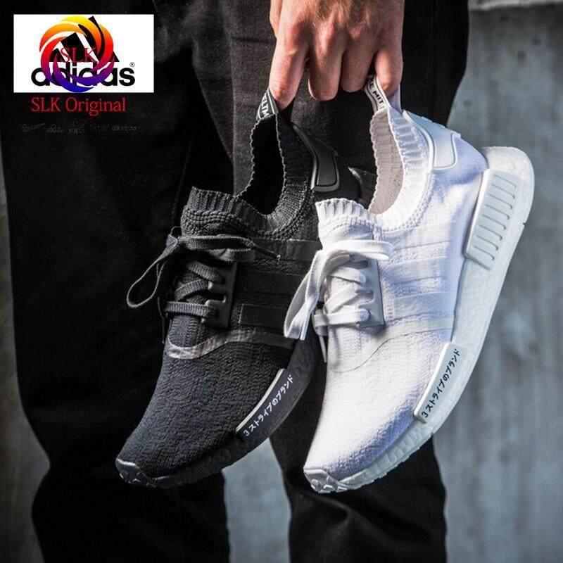 ยี่ห้อนี้ดีไหม  นครศรีธรรมราช SLK★Adidas NMD Boost R1 PK รองเท้าวิ่งรองเท้ารองเท้ากีฬาสีดำ
