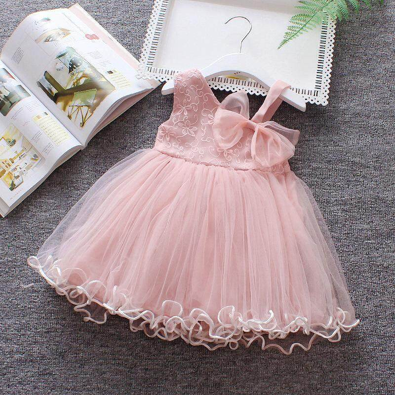 Baby Toddler Girl Rosa Ribbon Dress