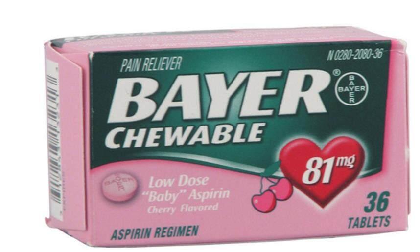 Viên Nén Bayer Aspirin Nhai Chính Hãng Của Mỹ Viên Nén Hương Vị Anh Đào 81 Mg36