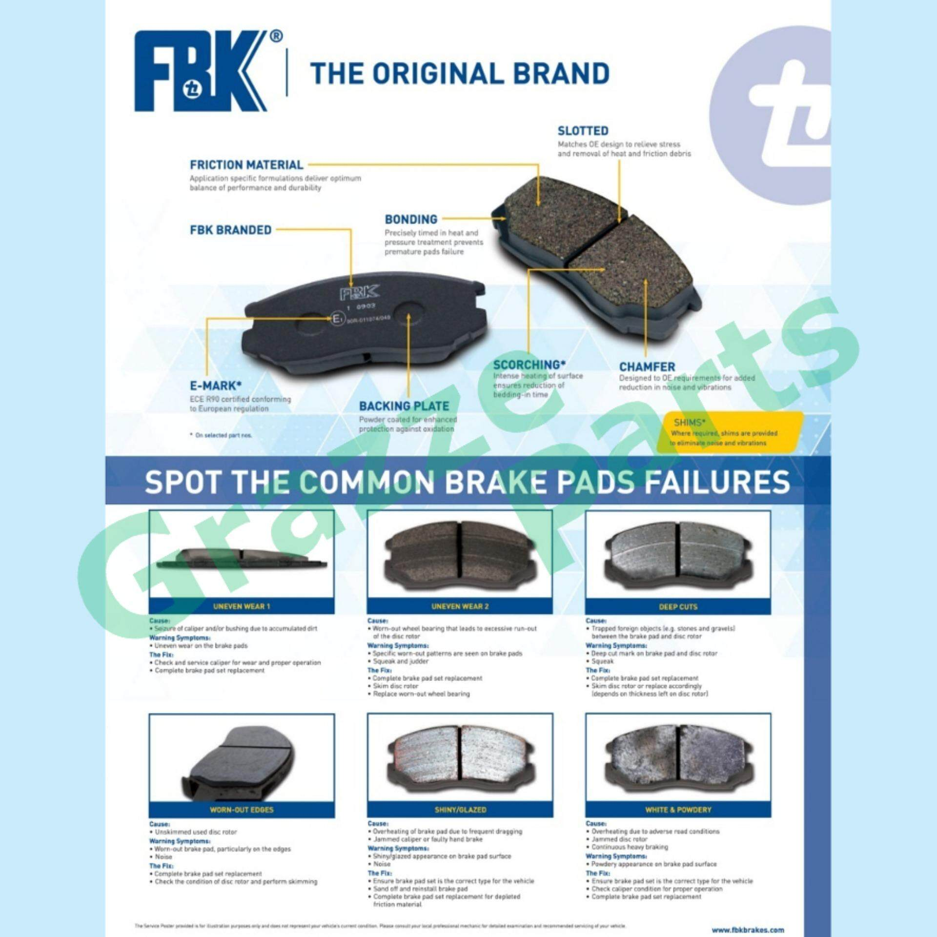 FBK Disc Brake Pad Front for FD5011S Honda Accord AS6 AS6Y City SH4 Prelude  EG4