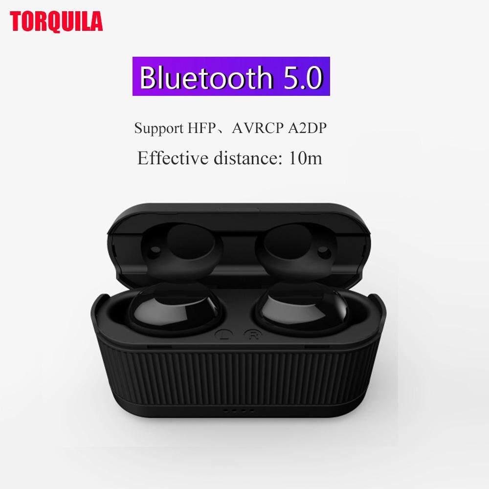 บลูทูธ 5.0 หูฟังไร้สาย TWS หูฟังในหูหูฟังสเตอริโอ Airpod สำหรับ iPhone Xiaomi Samsung อากาศที่มีคุณภาพสูง pods