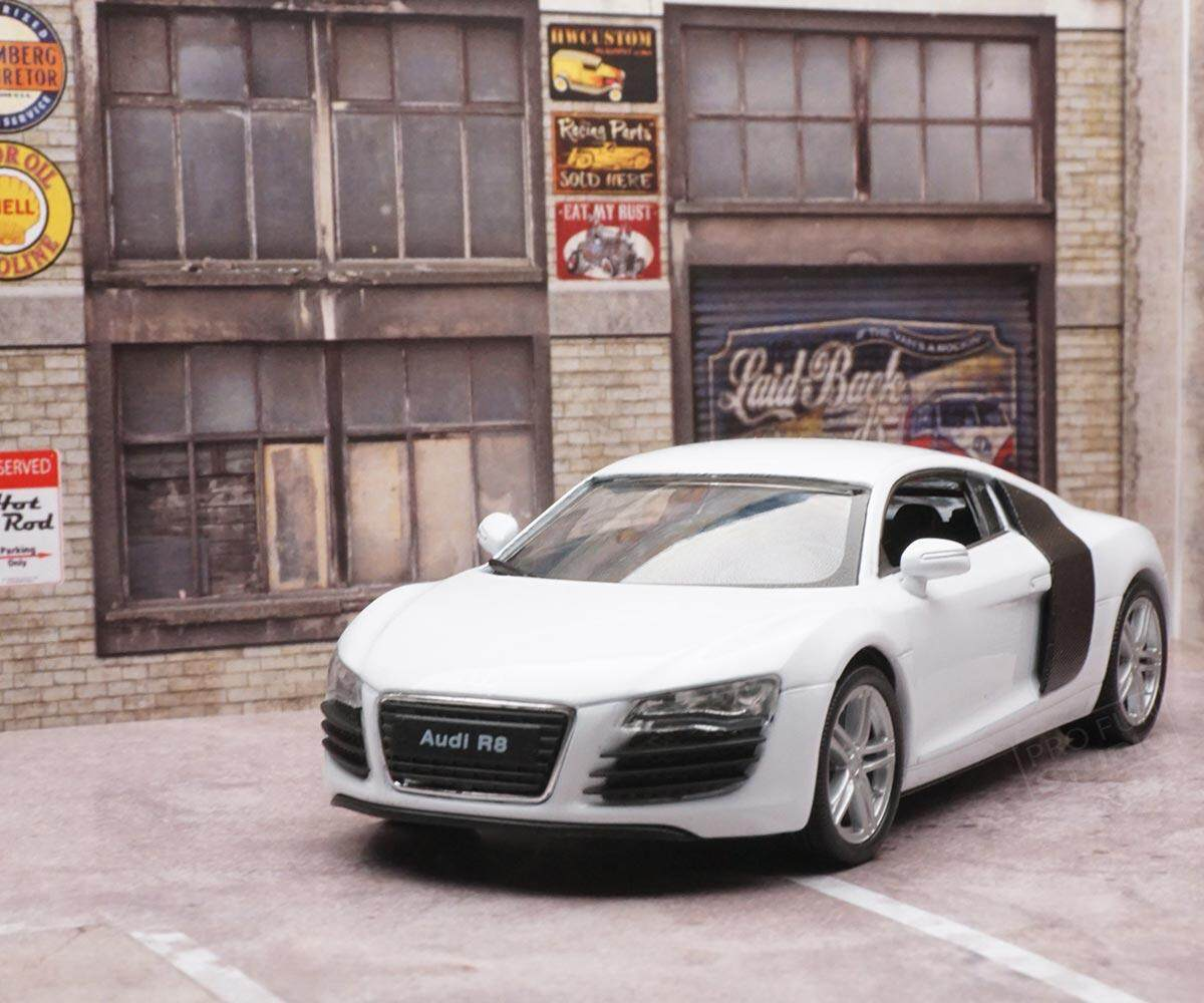 Welly Audi R8 1:43 1/43 Diescat Car model White Limited Stock in World High Simulation