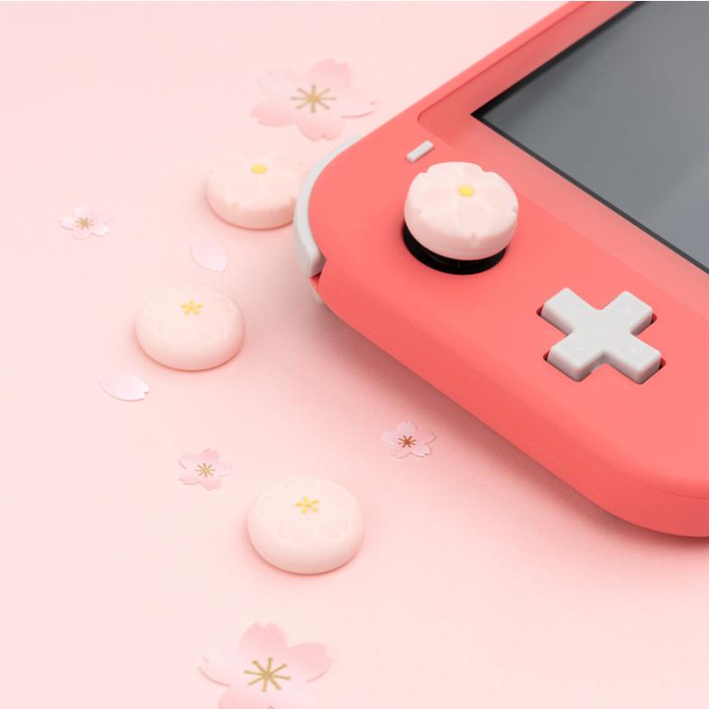 Hình ảnh Sakura Thumb Grip Cap Cho Nintendo Switch Silicone Rocker Cap JoyCon Bìa Shell Joystick Trường Hợp Đối Với Nintendo Chuyển Đổi Phụ Kiện
