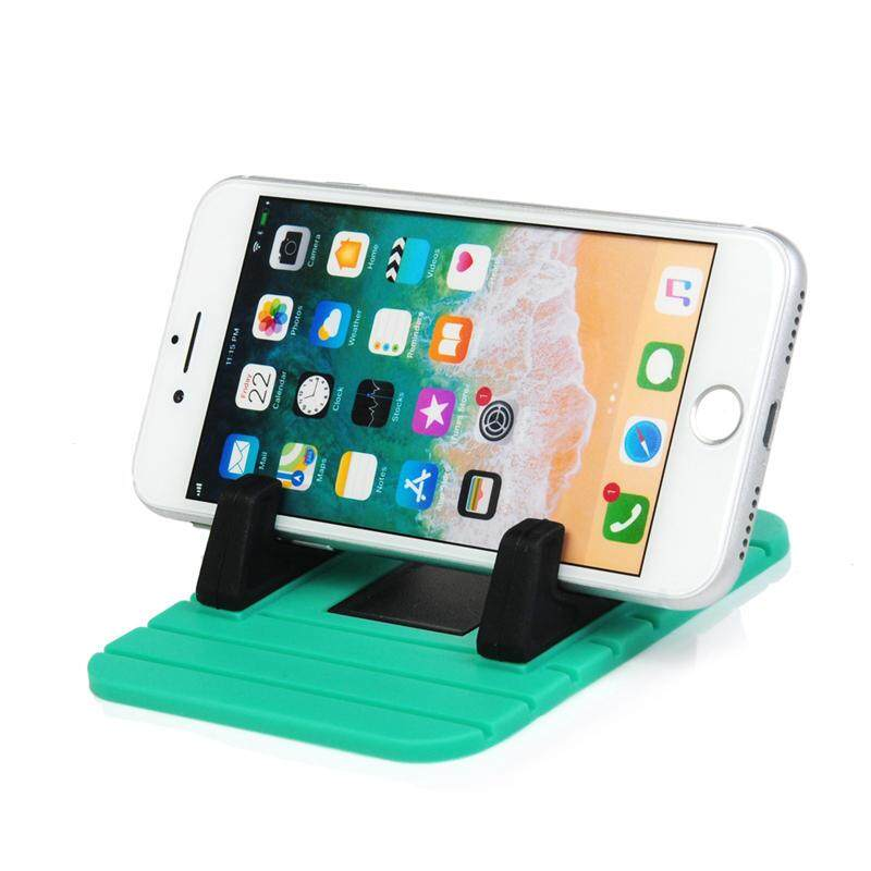 Tidery Dashboard Anti-slip Silicone Mat Stand Phone Holder (11 x 9 cm Green Version)