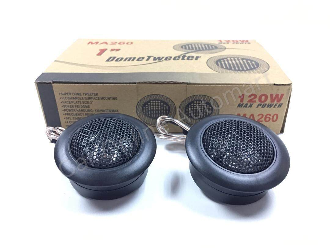 "MA AUDIO MA260 SUPER DOME 1"" TWEETER MAXIMUM POWER 120 WATT(2 pc) READY STOCK"