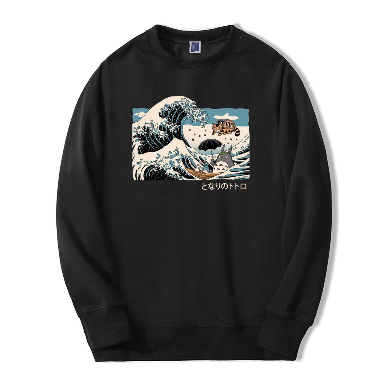 Nhật Bản Anime Tonari No Totoro Mùa Xuân Mùa Đông Thời Trang Áo Áo Khoác Hoodie Hip Hop Phù Hợp Với Áo Mỏng Nỉ Bông Tai Kẹp Áo Thun Chui Đầu 2020 Cotton người Áo Len